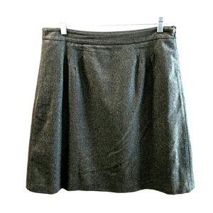 Jcrew gray wool skirt